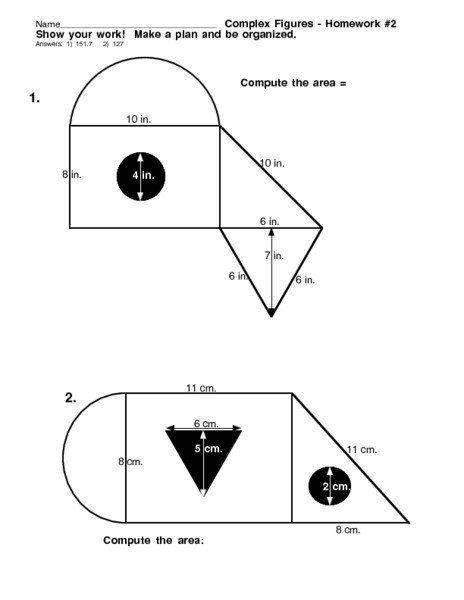 Complex Figures Worksheets Plex Figures Homework 2