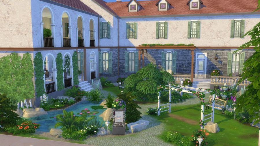 Sims 4 Maison De Style Campagne Chic Avec Cc Maison Campagne Chic Maison Sims Campagne Chic