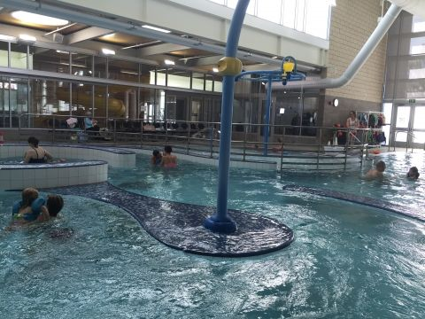 The Rainier Beach Community Center indoor pool is really two pools: an indoor lap pool and a play pool that is fabulous for kids (including small babies).