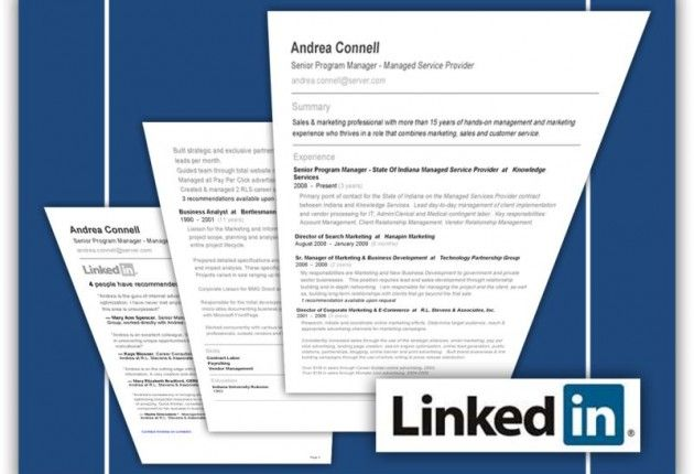 What Do Recruiters Look For On LinkedIn? Curriculum vitae - linked in on resume