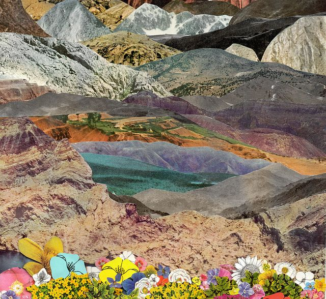 Collage Landscape, Collage Art, Collage
