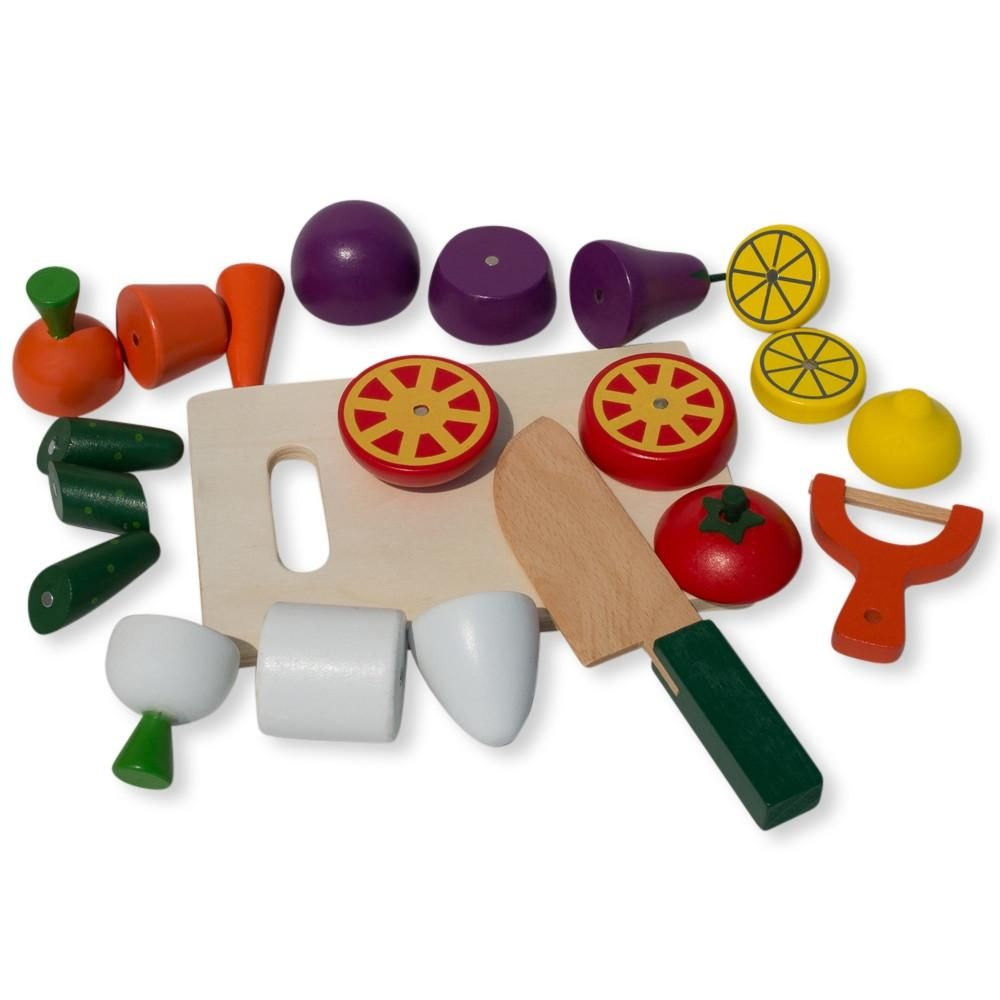 22 pieces magnetic wooden toy kitchen play set with