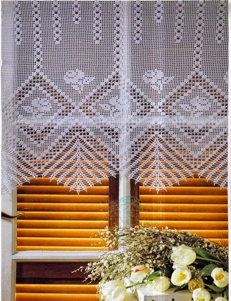 rideaux au crochet fait main 19 crochet curtains. Black Bedroom Furniture Sets. Home Design Ideas