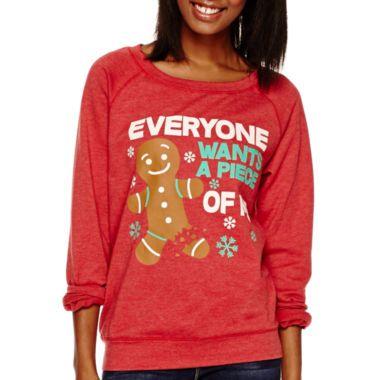 long sleeve christmas sweatshirt found at jcpenney ugly christmas sweaters sweatshirts. Black Bedroom Furniture Sets. Home Design Ideas