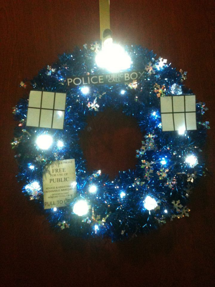 My Tardis Wreath For Our Office Decorating Contest
