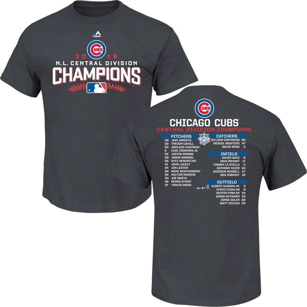 online store 58c0b 2b849 Chicago Cubs 2016 Team Represent Postseason Roster T-Shirt ...