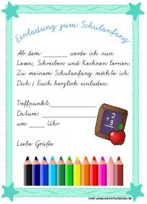 Einladung Schulanfang Einladung Schulanfang Schulanfang Einladung Einschulung