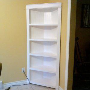 Delicieux White Corner Shelf Cabinet