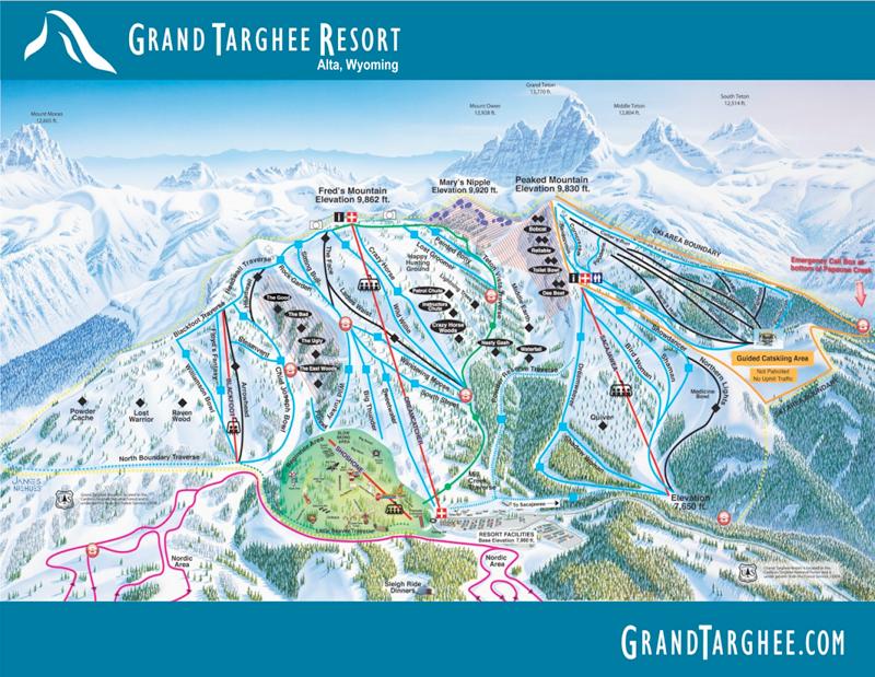 Grand Targhee Resort Ski Map Ski Trips Pinterest Wyoming - Grand targhee resort