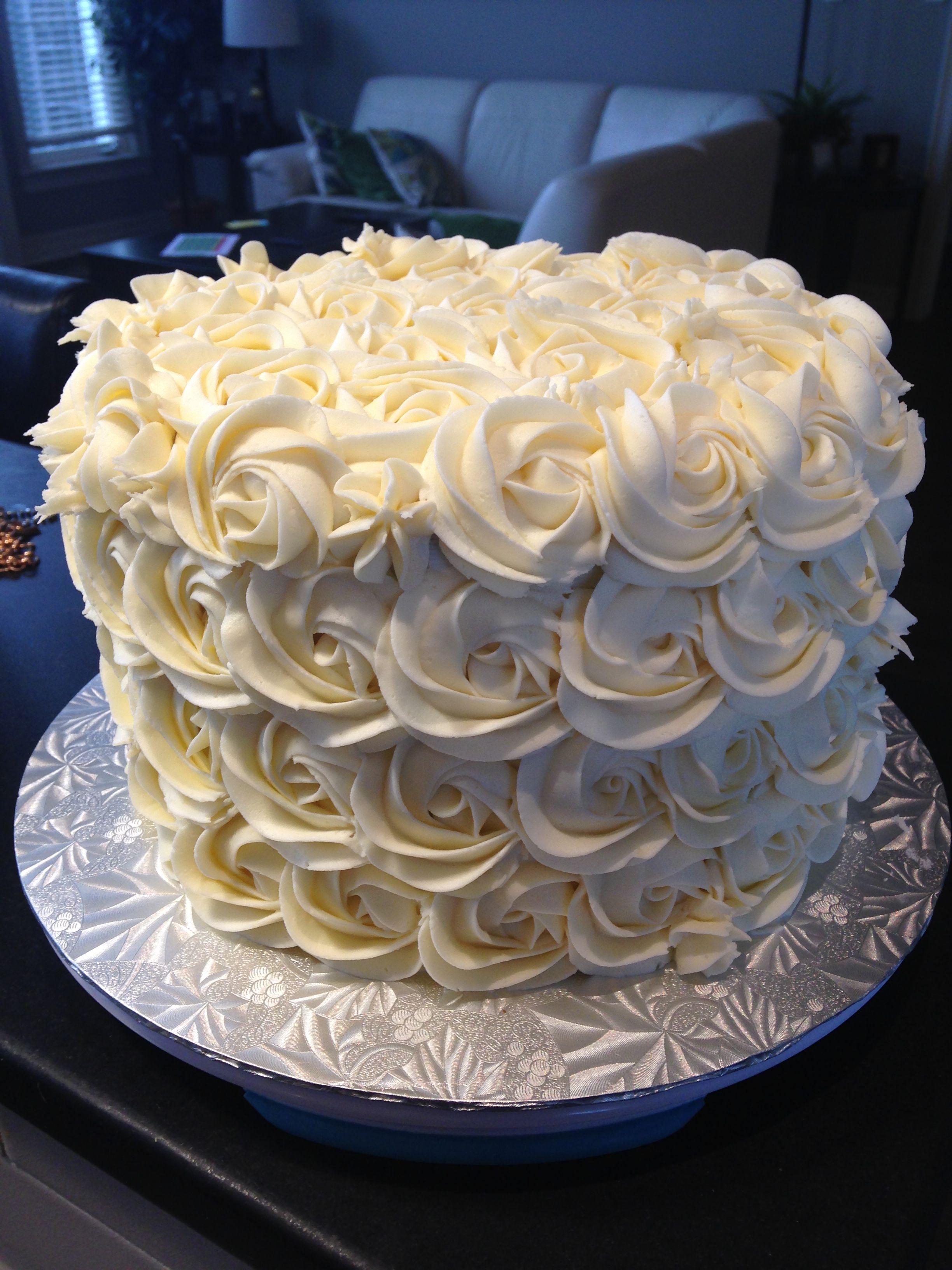 Buttercream roses cake cake buttercream rose cake