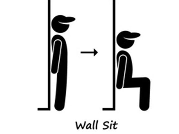 Eine Woche Wandsitzen Wandsitzen Herausforderung 90 Grad Winkel