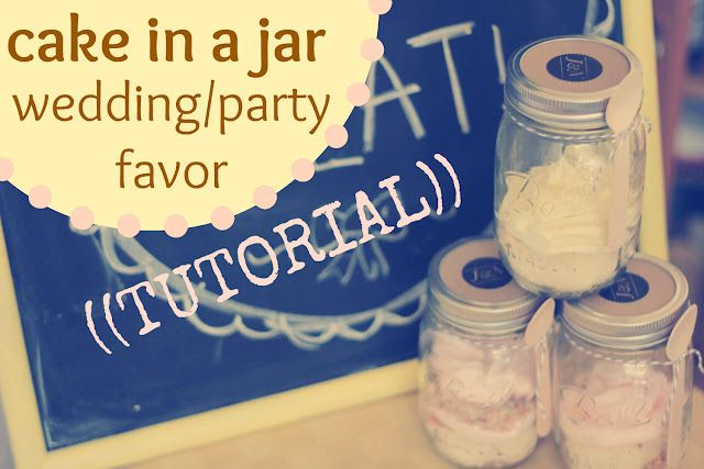 Cake in a jar! What a great idea for shower or wedding favors! Via Oh, Sweet Joy!