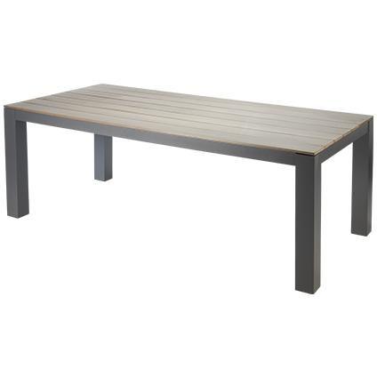 Table de jardin Central Park \'Bruno\' rectangulaire bois/alu 210 x ...