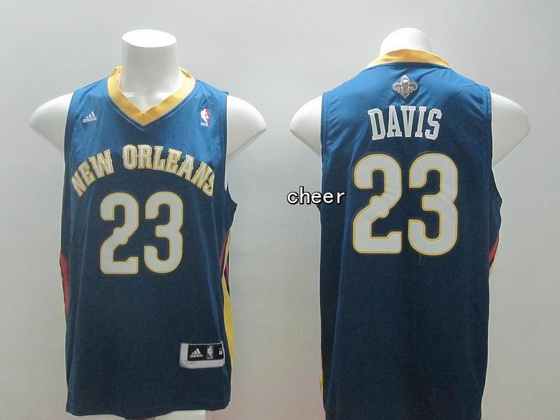 ... nba jersey new orleans hornets 23 davis blue jersey 8bcc7ed8b