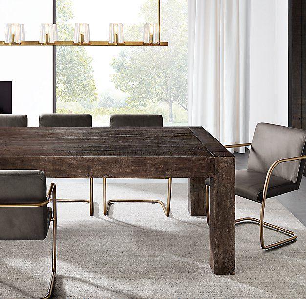 Rh Modern S Monterey Rectangular Dining Table Reclaimed From