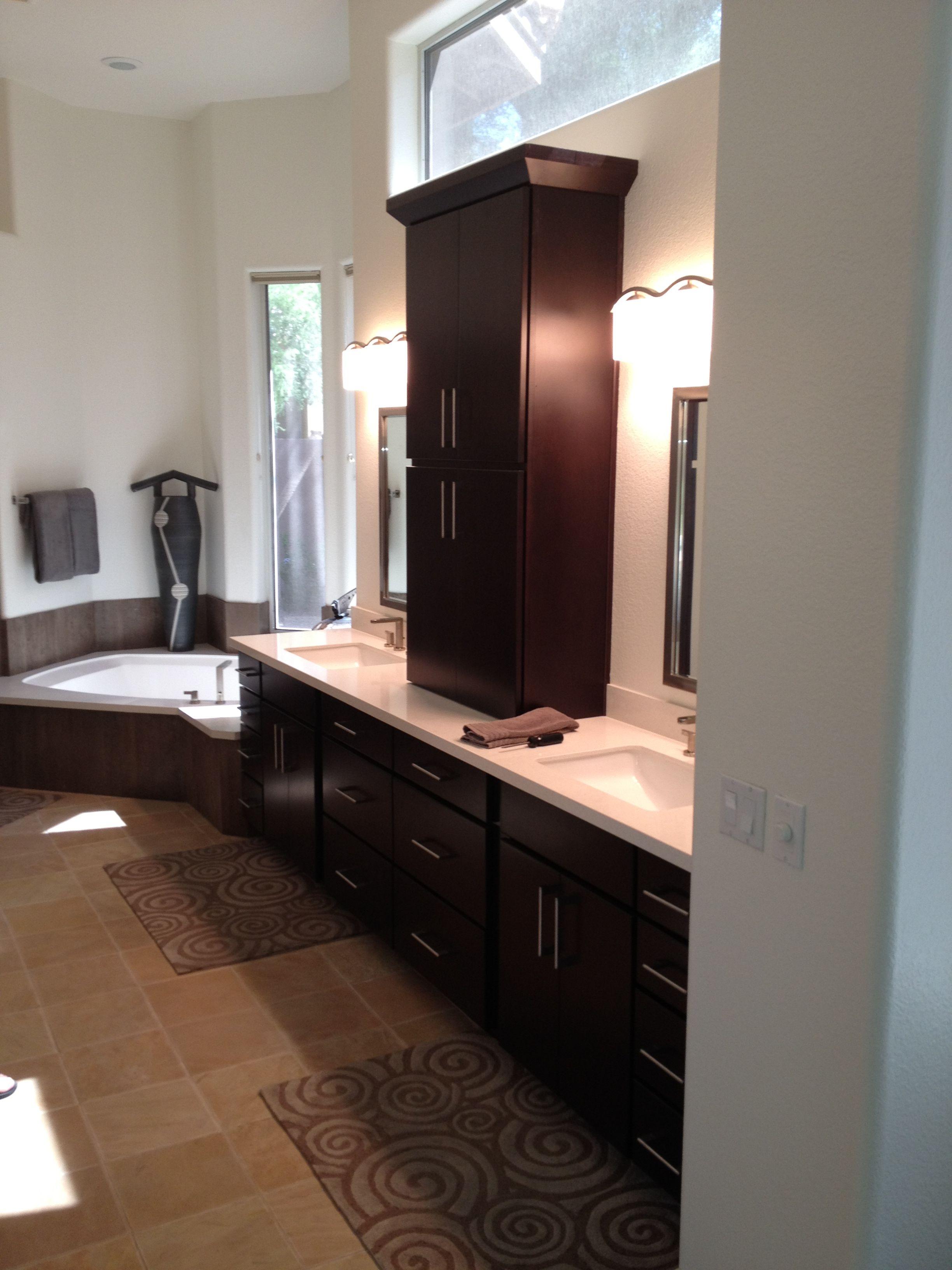Home Contemporary Master Bathroom Custom Kitchens Design