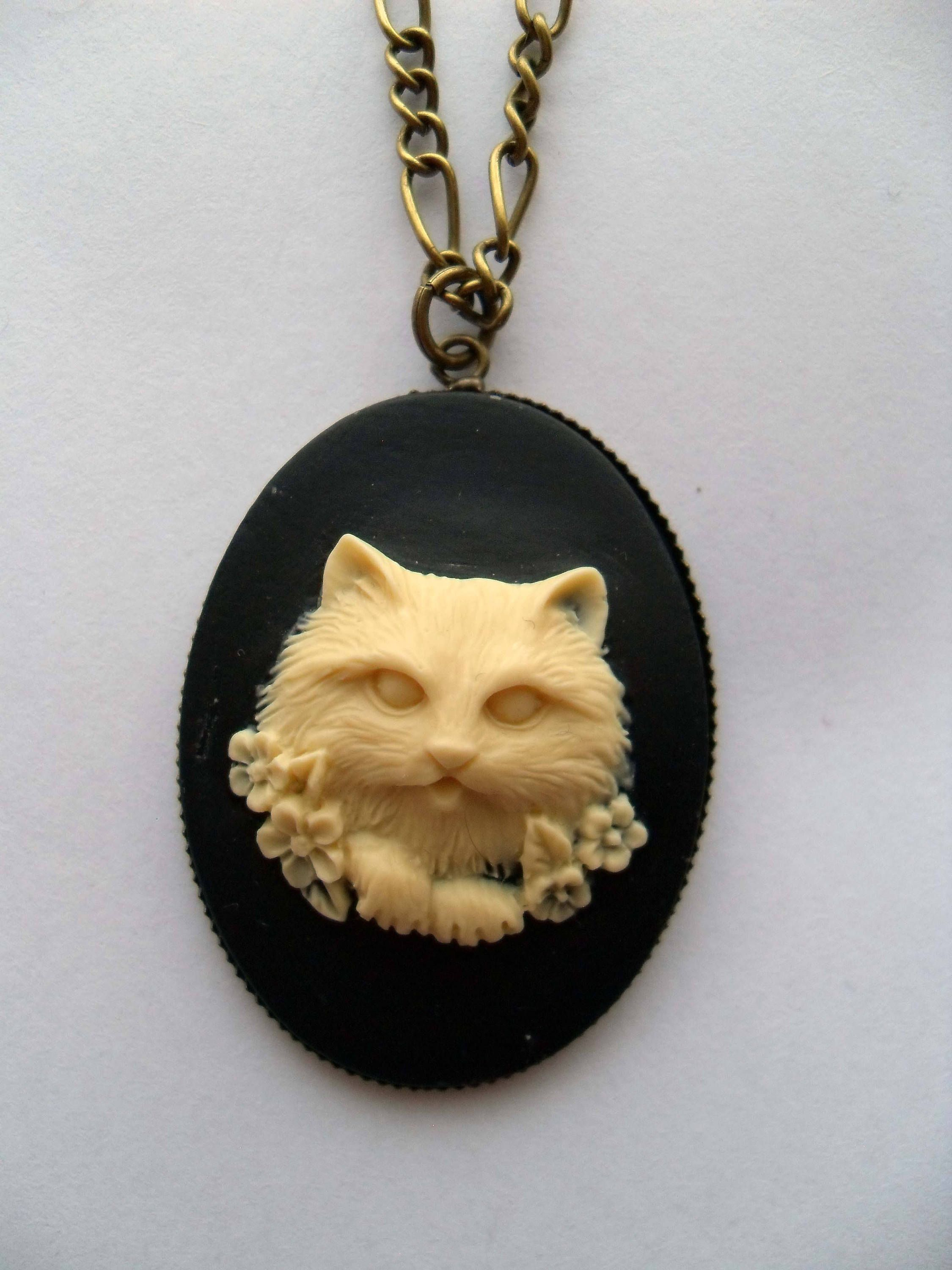 jewelry silver sterling necklace furkeeps cat products handmade jewellery