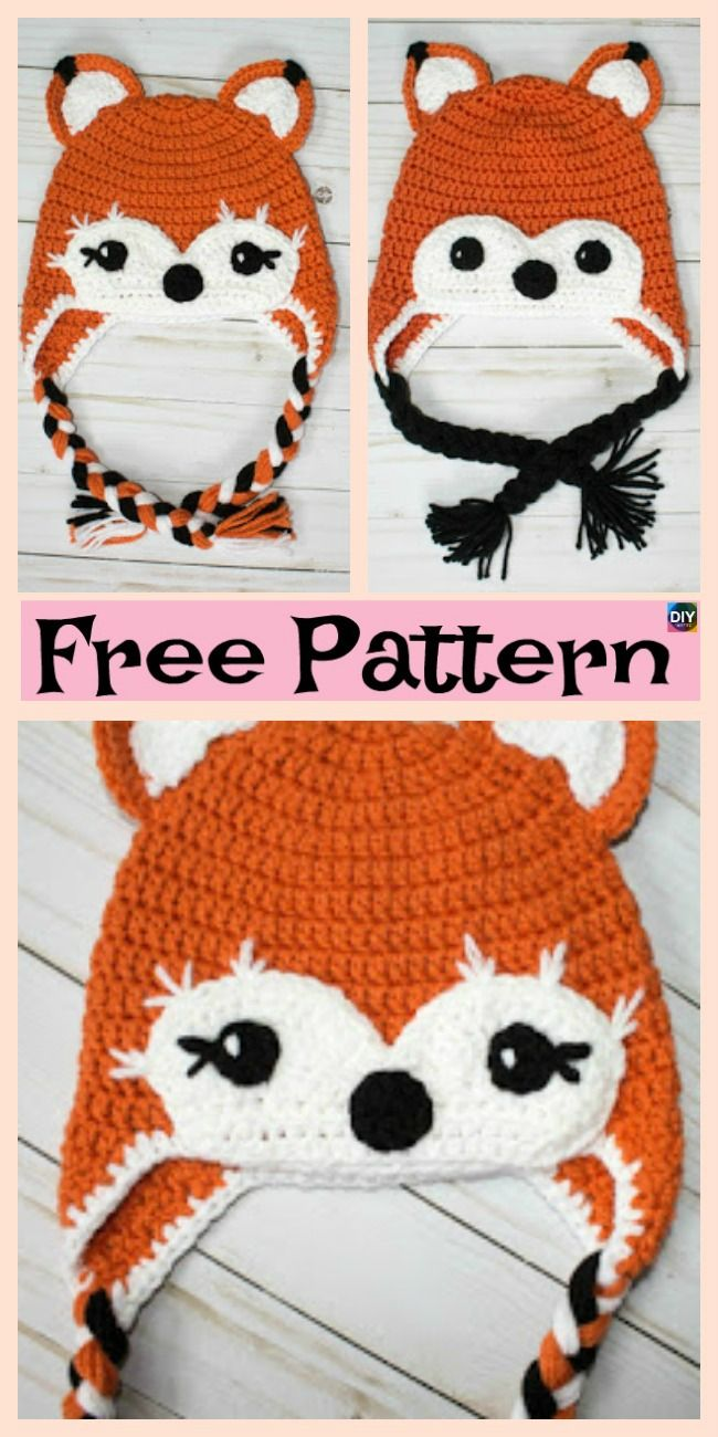 8 Knit & Crochet Fox Hats - Free Patterns #crochethats