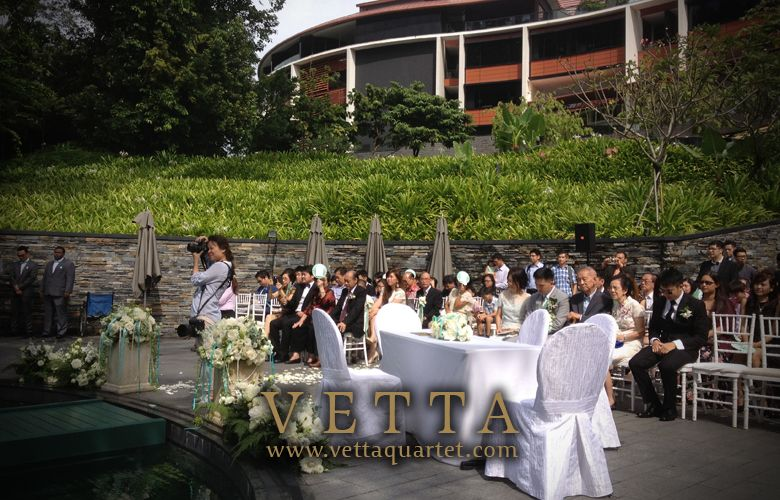 Wedding Solemnisation Ceremony At The Capella Singapore Poolside