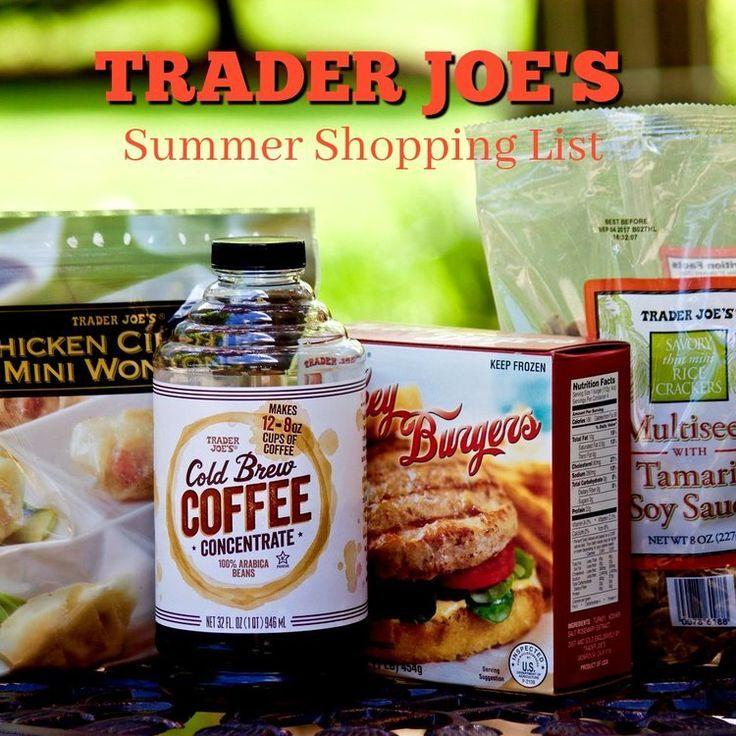 Trader Joe's Summer Shopping List Clean eating shopping