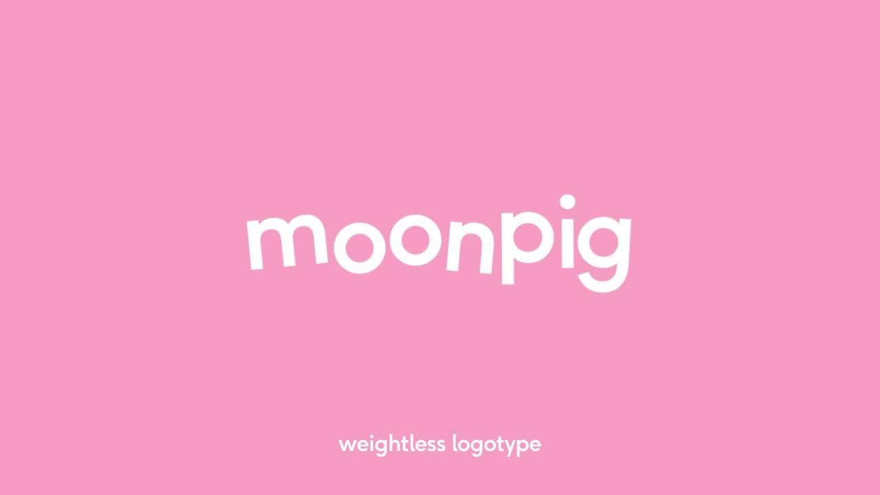 Moonpig Rebrand Bold Pink Logotype For Greeting Card And Gifts Award Winning Logos D Ad Rebranding Branding Inspiration Branding Design Inspiration