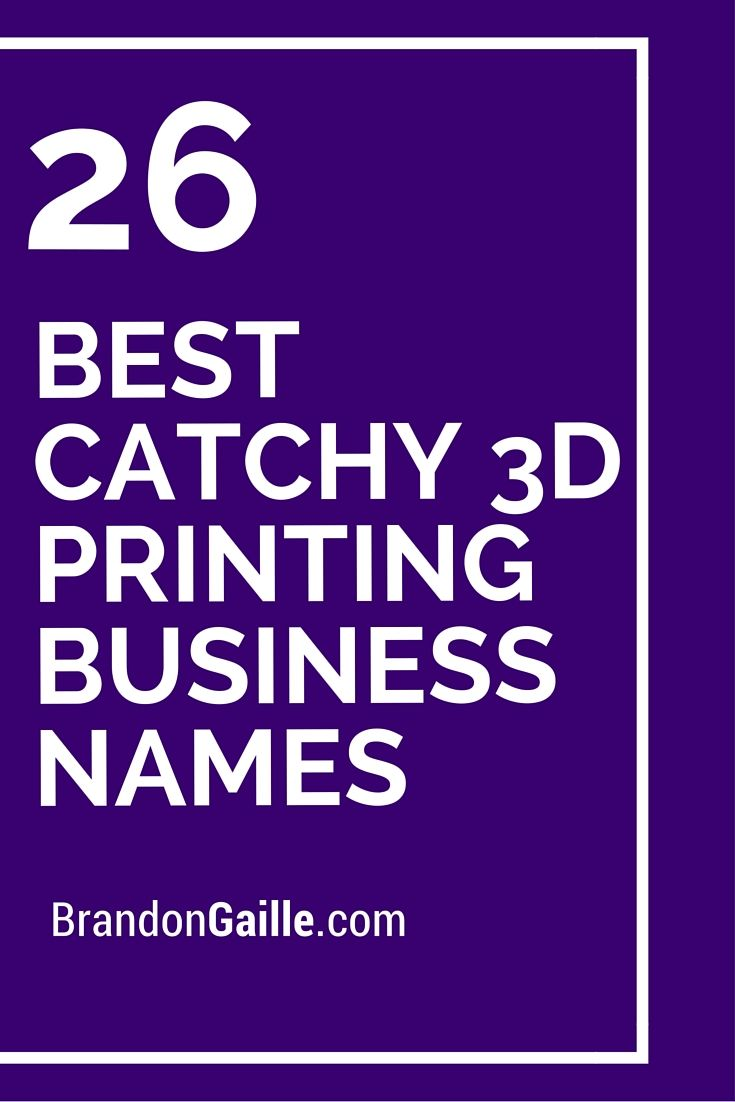 75 Best Catchy 3D Printing Business Names