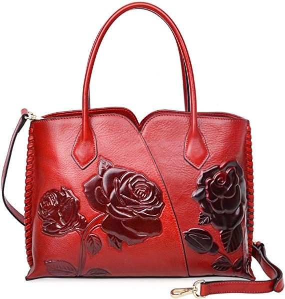 fafe77ac8aab Amazon.com  PIJUSHI Top Handle Bag for Women Designer Floral Purses Satchel  Handbag (6913