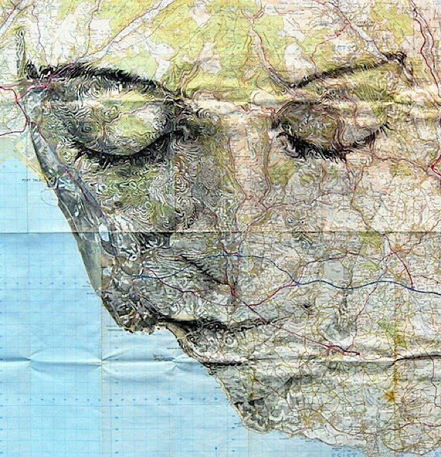 Strassen Und Platze Formen Ein Gesicht Ed Fairburn Map Art Ed