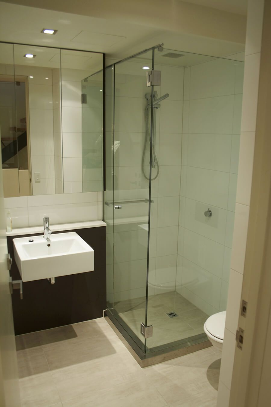 Custom Small Bathroom With Shower Compartment Bathroom Ideas - Bathroom compartment