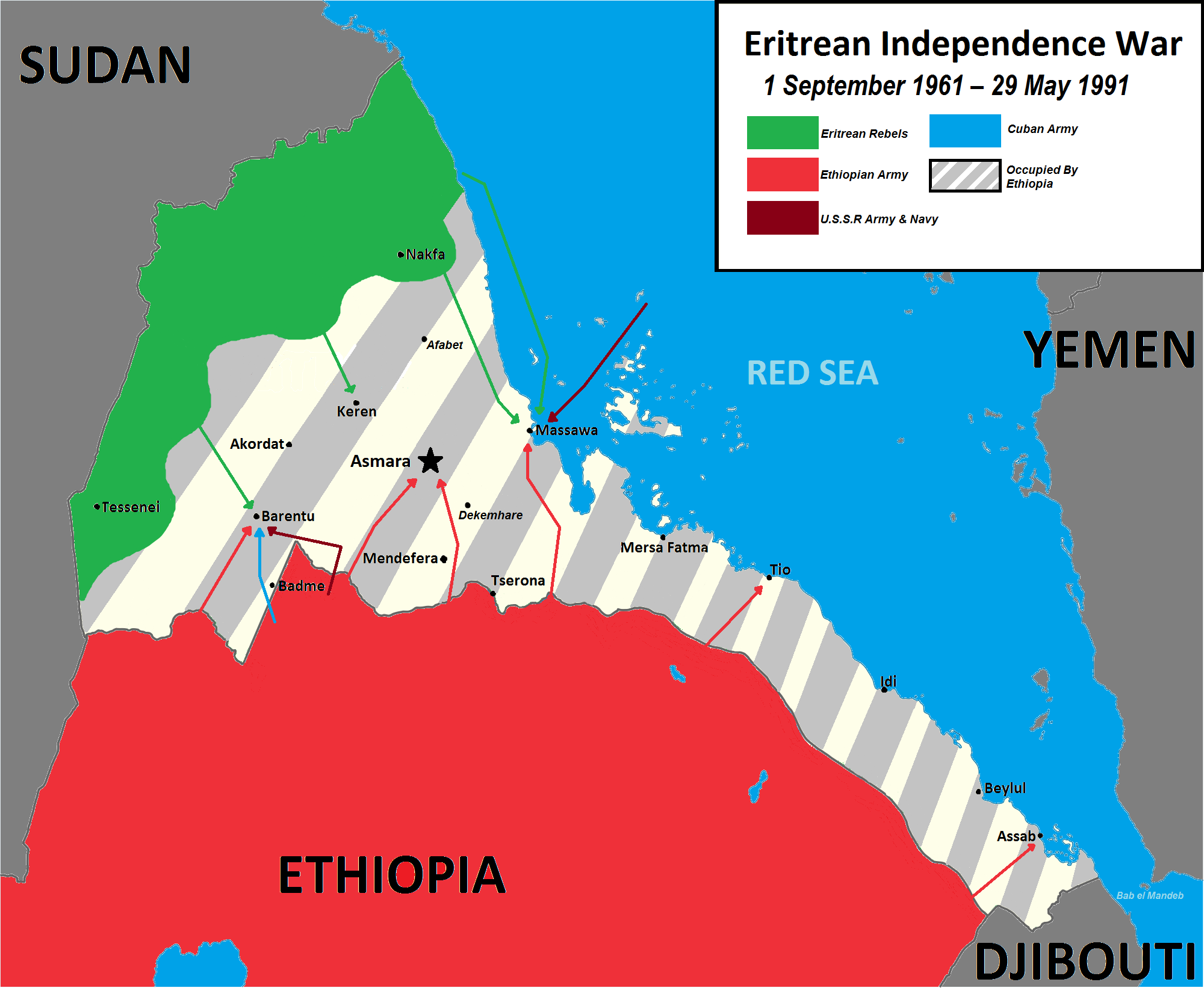 Eritrean War Of Independence Against Ethiopia 1961 1991 In 2020 Independence War Eritrean War