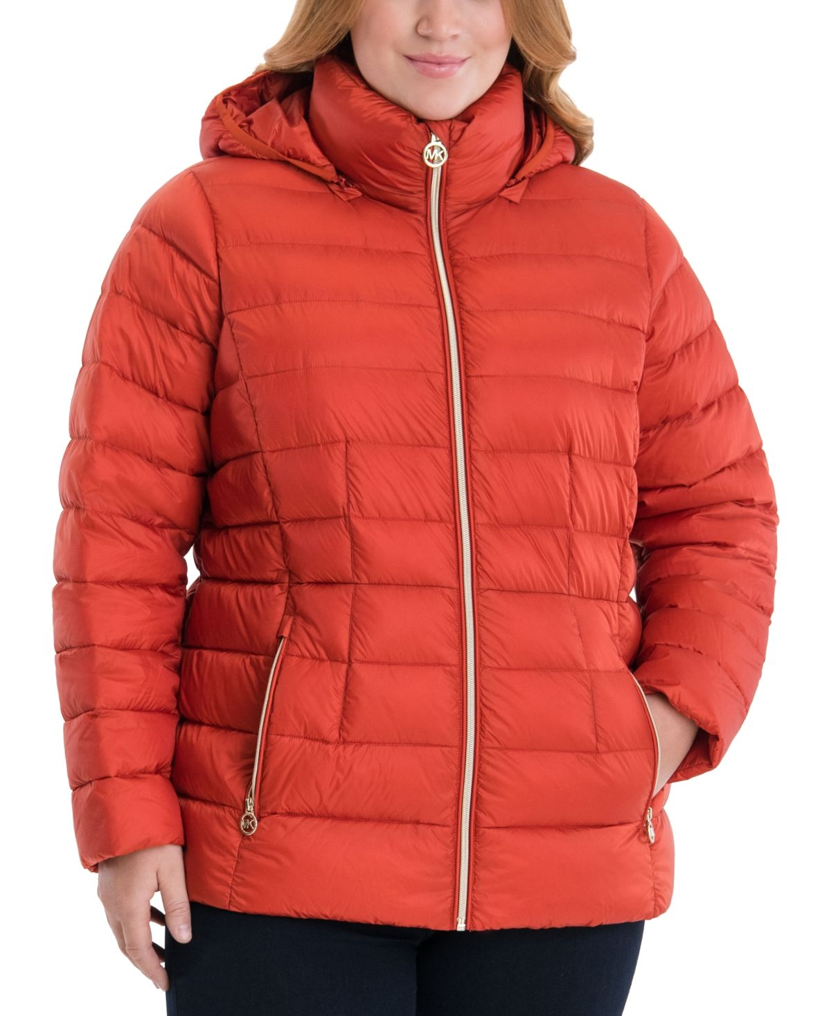 Michael Kors Plus Size Hooded Packable Puffer Coat Created For Macy S Reviews Coats Plus Sizes Macy S Puffer Coat Packable Puffer [ 1466 x 1200 Pixel ]