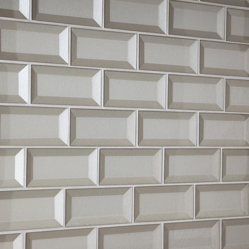 - Marazzi Decor Accents Silver 12 In. X 12 In. X 8 Mm Glass Brick