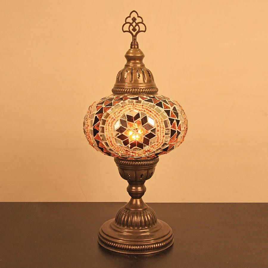 Turkish mosaic table lamp 65 1 ball brown turkishmoroccan turkish mosaic table lamp 65 1 ball brown turkishmoroccan mosaic mozeypictures Images