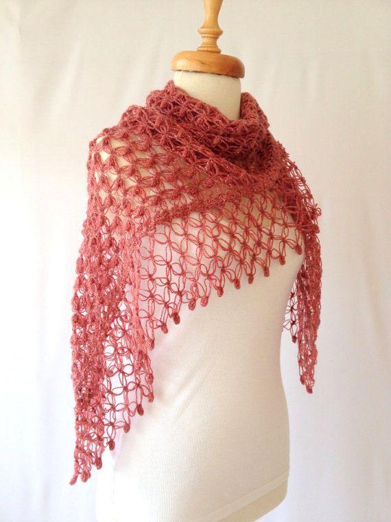 LovelyRedBurgundy Shawl Scarf Women Fashion Gift for by allapples, $70.00