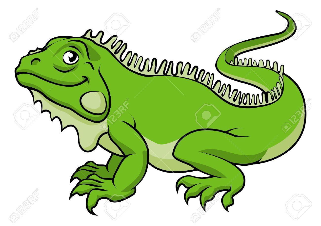 Una Ilustracion De Un Lagarto Iguana Verde De Dibujos Animados Feliz Ilustraciones Vectoriales Clip Art Vectorizado Libre Iguana Cartoon Lizard Beach Cartoon