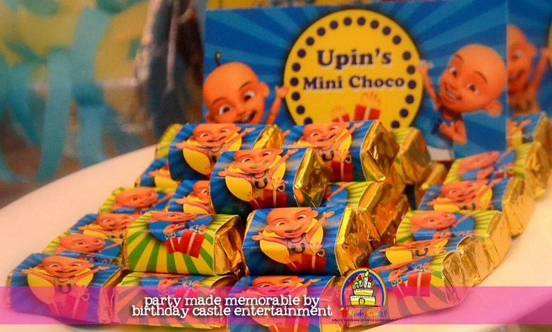 Upin ipin party mini chocolate bar theme birthday parties upin ipin party mini chocolate bar stopboris Image collections