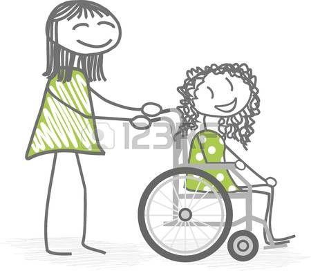 Ni os discapacitados una persona que ayuda a una silla de for Sillas para colorear