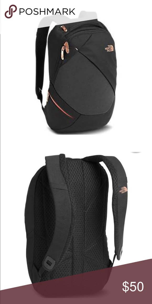 2ad8520ce North face Electra backpack. Black and Rose Gold. North face Electra ...