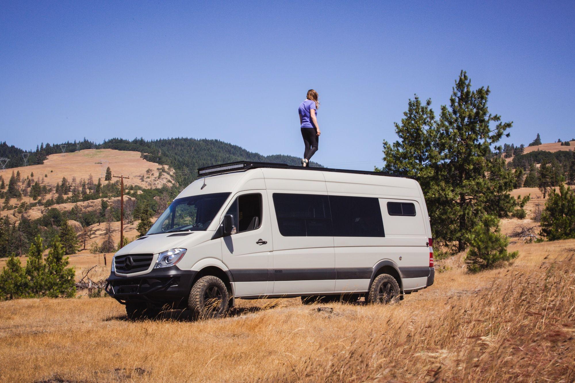 Outside Van Sprinter Conversion Tour Review Van Life Group