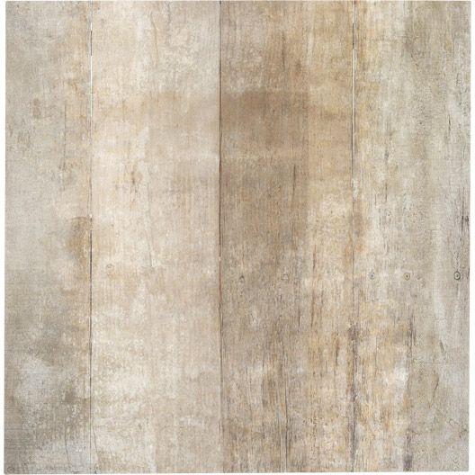 Carrelage intérieur Saloon en grès cérame émaillé, beige, 60 x 60 ...