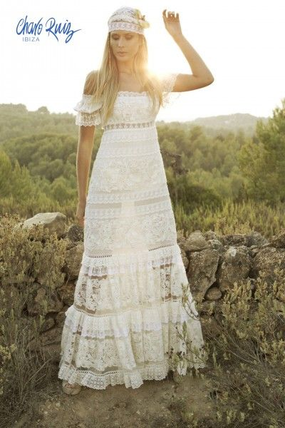 Vestidos de novia hippies mallorca