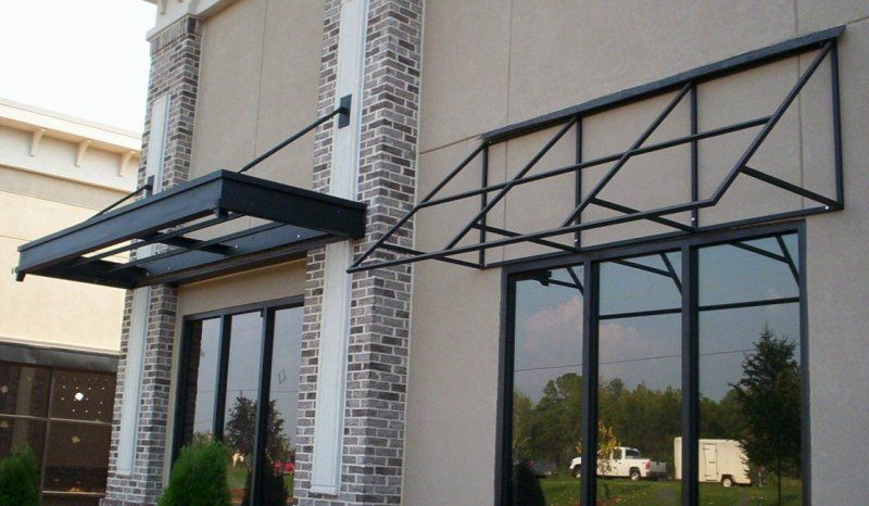 More Architectural Commercial Metalworking Metal Awning Office