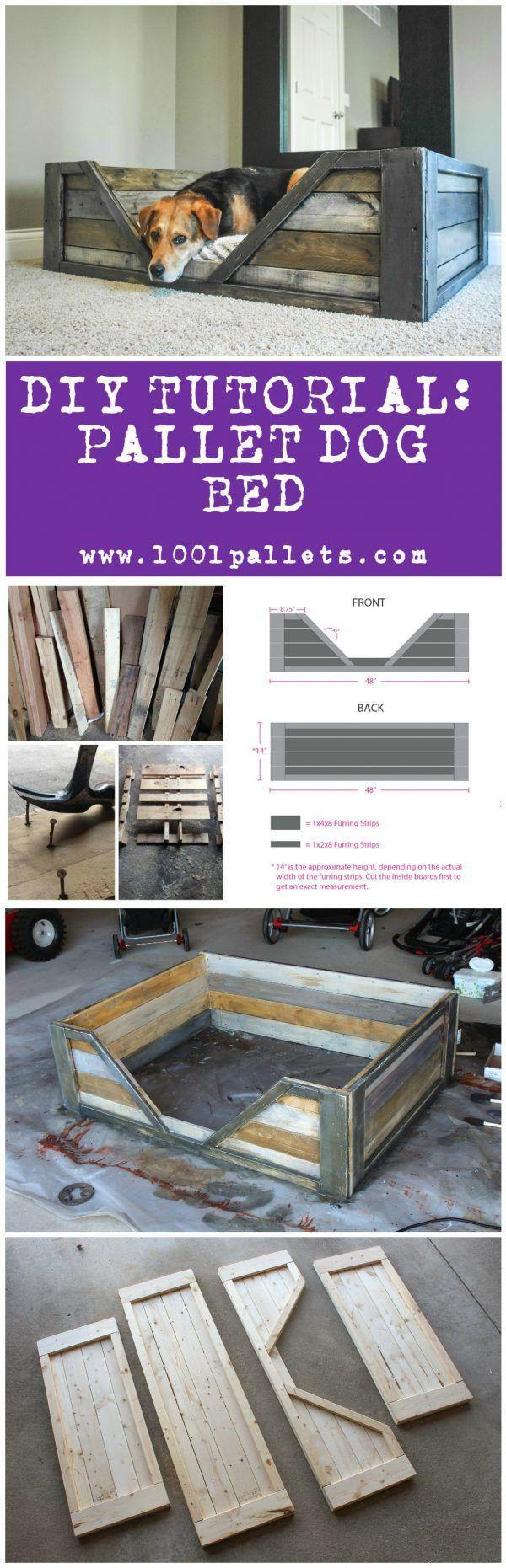 Photo of DIY PDF Tutorial Pallet Dog Bed • 1001 Pallets • FREE DOWNLOAD
