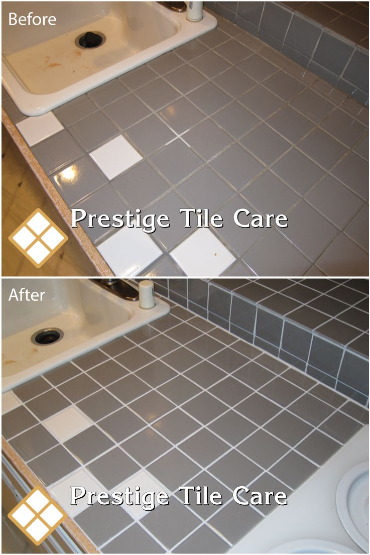 Cleaning Tile And Grout Colorsealing On Countertop Seattlecountertops