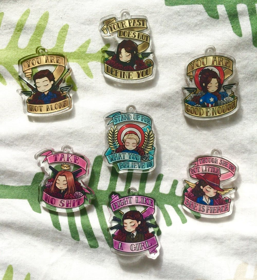 The product MARVEL INSPIRATIONAL CHARMS is sold by aceromanoffs | ryonello in our Tictail store.  Tictail lets you create a beautiful online store for free - tictail.com
