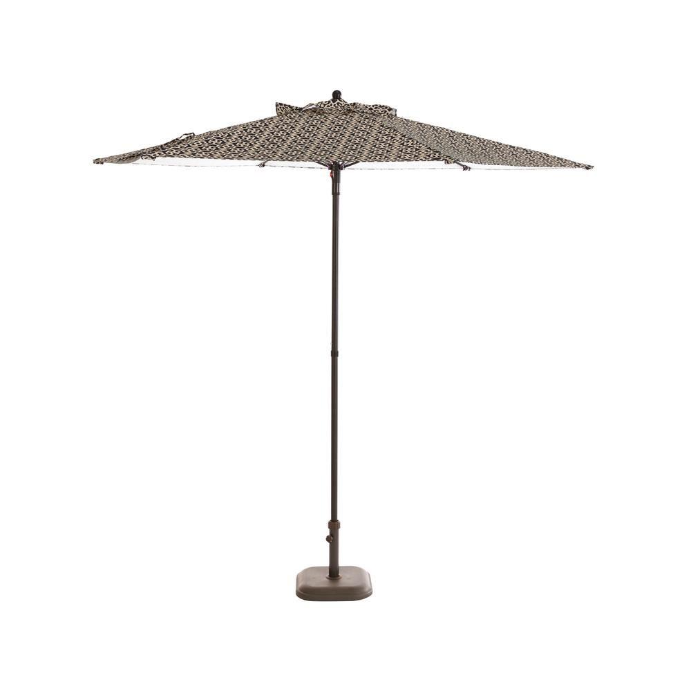 Hampton Bay 7 5 Ft Steel Patio Umbrella In Jasper Trellis Patio