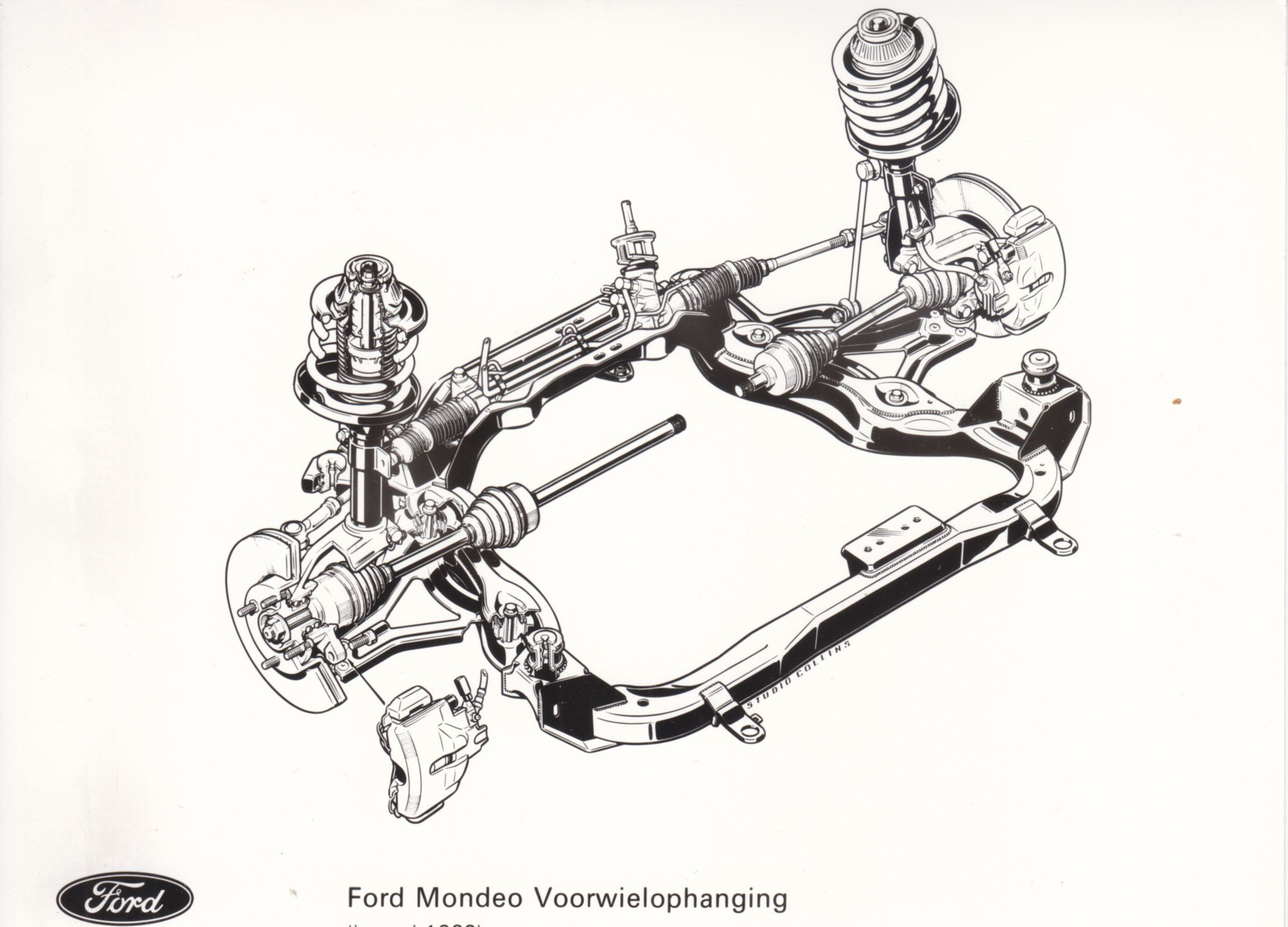 Ford Mondeo Front Wheel Suspension Nl 01