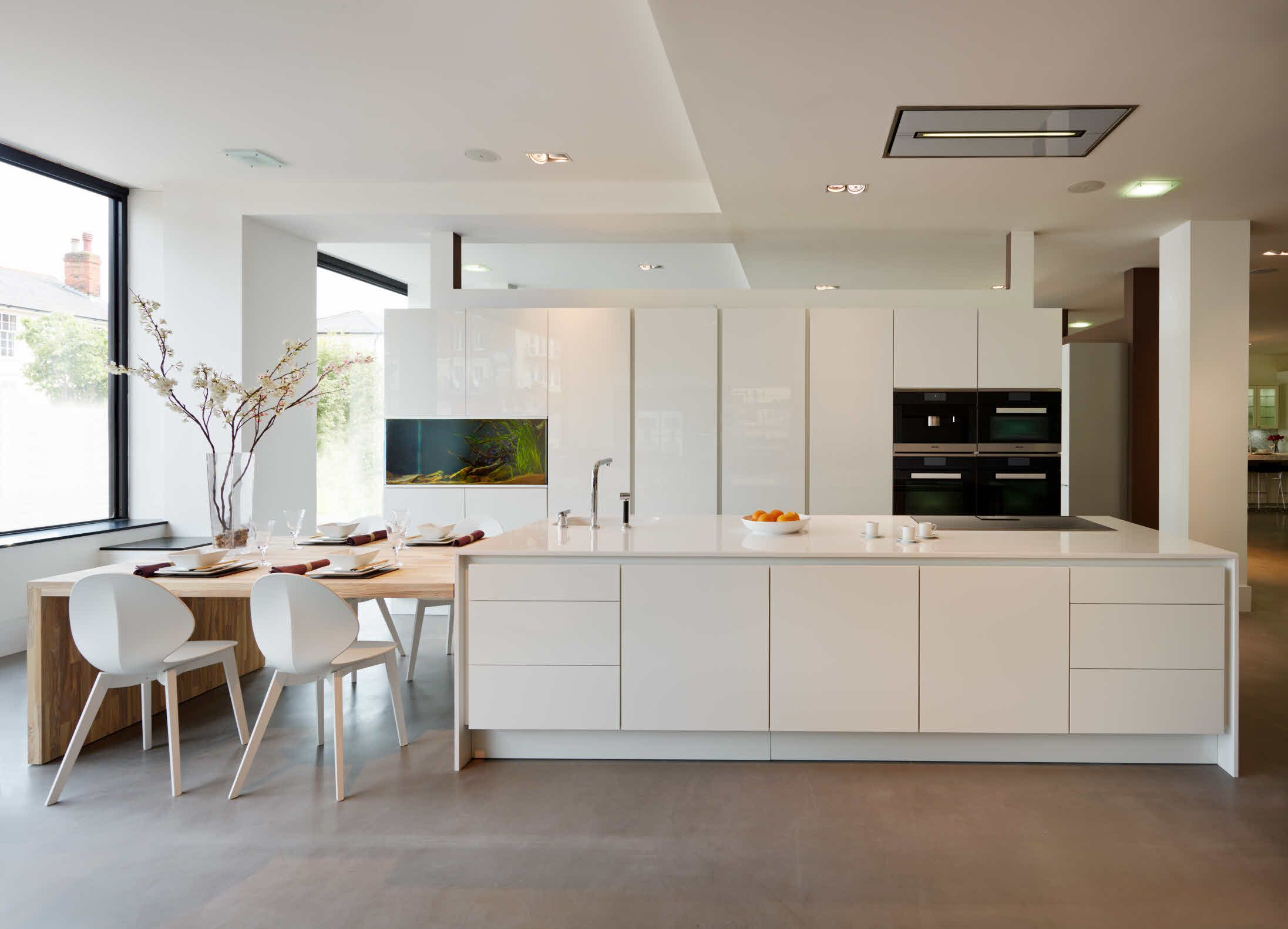 Kochinsel Mit Aquarium ~ gorgeous +segmento polar white kitchen with an integrated aquarium  kitchen  pinterest