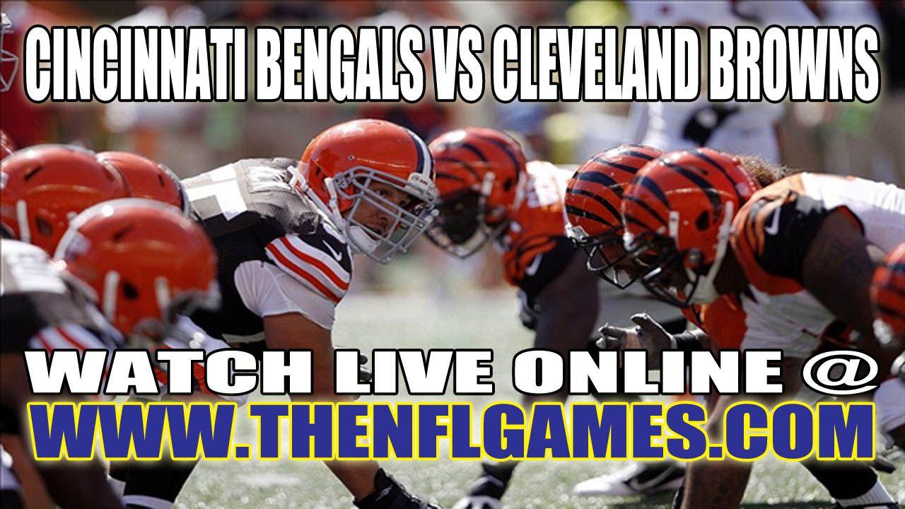 Cincinnati Bengals vs Cleveland Browns Live Streaming