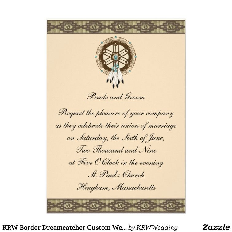 Native american wedding invitations